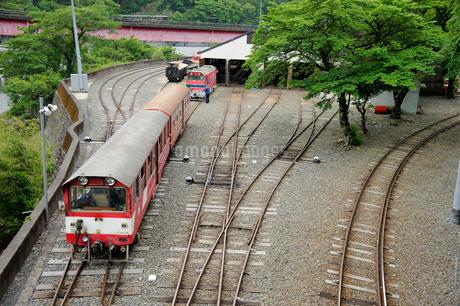 大井川鉄道井川線機関区の写真素材 [FYI01699124]