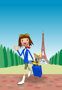 パリ 旅行のイメージのイラスト素材 [FYI01699367]