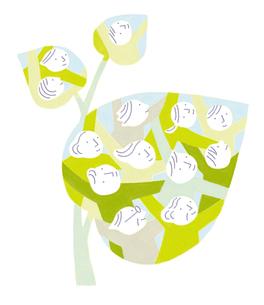 人々のつながり 葉のイラスト素材 [FYI01699454]
