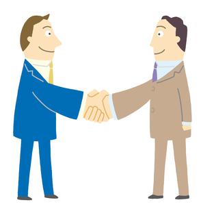 握手するビジネスマンのイラスト素材 [FYI01699461]