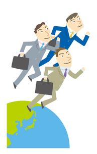 世界にはばたくビジネスマンたちのイラスト素材 [FYI01699506]