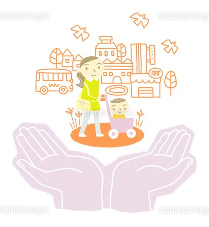 赤ちゃん連れの外出をサポートのイラスト素材 [FYI01699510]