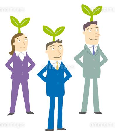 芽が出るビジネスマンたちのイラスト素材 [FYI01699515]
