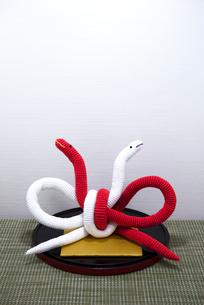 へび 編み物の写真素材 [FYI01699521]