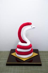 へび 編み物の写真素材 [FYI01699523]