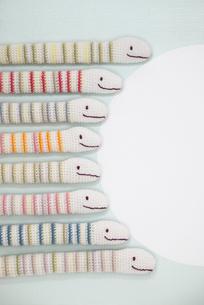 へび 編み物の写真素材 [FYI01699549]