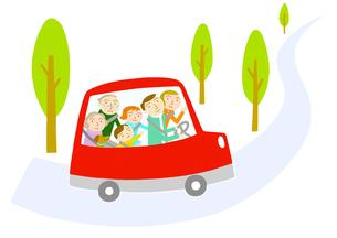 家族でドライブのイラスト素材 [FYI01699554]