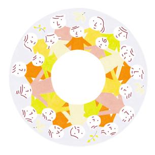 人々のつながり 円のイラスト素材 [FYI01699565]