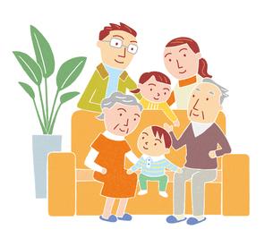 リビングの家族のイラスト素材 [FYI01699571]