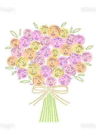 笑顔の花束のイラスト素材 [FYI01699575]