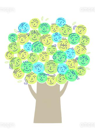 笑顔の木のイラスト素材 [FYI01699587]