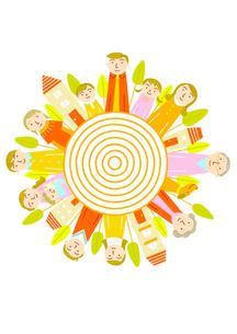 家族は太陽のイラスト素材 [FYI01699591]