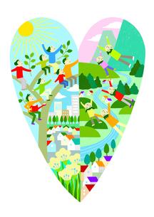 自然と共に暮らすのイラスト素材 [FYI01699627]