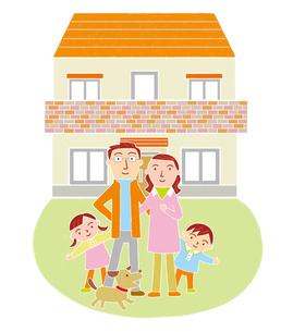 家族とマイホームのイラスト素材 [FYI01699629]