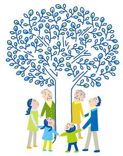 未来を見つめる家族の木のイラスト素材 [FYI01699648]