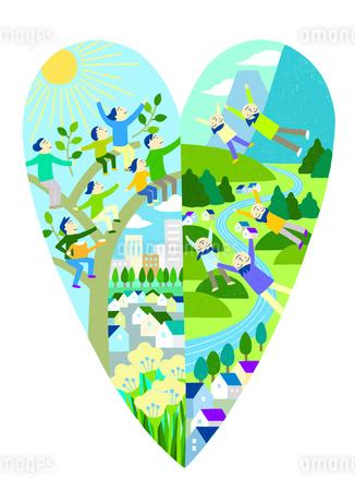 自然と共に暮らすのイラスト素材 [FYI01699652]