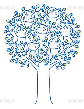 家族の木のイラスト素材 [FYI01699656]