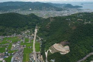トンネル工事(空撮)の写真素材 [FYI01699884]