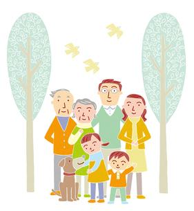家族のイラスト素材 [FYI01700088]