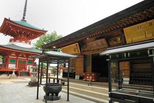 慈尊院本堂と多宝塔の写真素材 [FYI01701672]