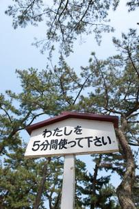 熊手置き場 津田の松原の写真素材 [FYI01703565]