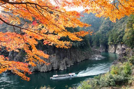 紅葉の瀞峡の写真素材 [FYI01703875]
