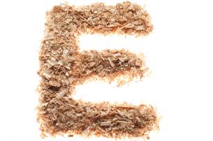 アルファベットのE(おがくず)の写真素材 [FYI01704701]