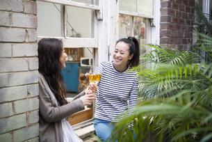 乾杯をしている女性2人の写真素材 [FYI01708064]