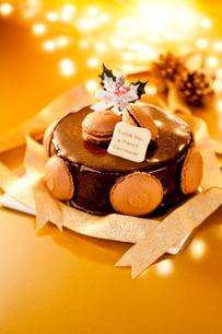 チョコレートクリスマスケーキの写真素材 [FYI01708121]