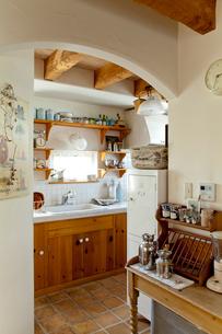 カントリーなキッチンの写真素材 [FYI01708378]