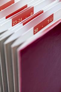書類分類ファイルのアップの写真素材 [FYI01708460]