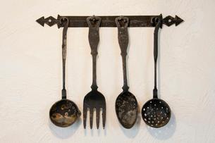 古いキッチン道具の写真素材 [FYI01708482]