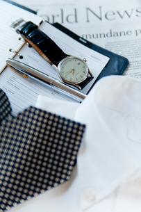 シャツとネクタイと小物の写真素材 [FYI01708521]
