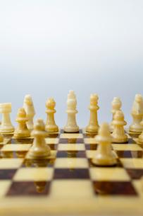 凛と立つチェスの駒の写真素材 [FYI01708672]