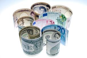ドル ユーロ 円集合の写真素材 [FYI01708769]