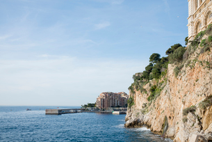 岸壁と地中海の写真素材 [FYI01708852]