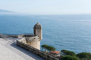 モナコから見る地中海の写真素材 [FYI01708862]