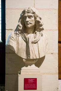 シャンボール城内にある彫刻の写真素材 [FYI01708871]