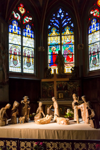 ブールジュ大聖堂のステンドグラスの写真素材 [FYI01709121]