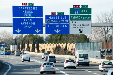 ニースの道路表示板の写真素材 [FYI01709128]