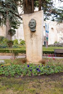 古代劇場前に立つヴァン.ゴッホの記念碑の写真素材 [FYI01709299]