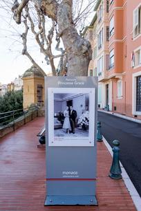 グレース公妃の写真のあるモナコ旧市街の写真素材 [FYI01709392]