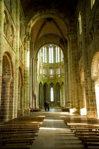 モンサンミッシェル修道院付属の教会の写真素材 [FYI01709629]