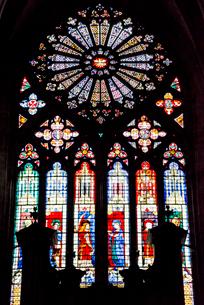 ブールジュ大聖堂のステンドグラスの写真素材 [FYI01709643]