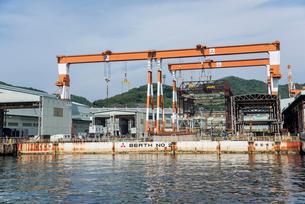 三菱長崎造船所の戦艦武蔵を造った場所の写真素材 [FYI01710073]