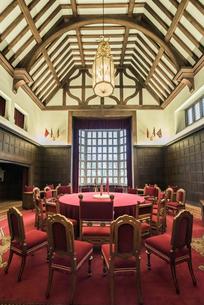 ポツダム会談が行われたツェツィーリエンホーフ宮殿の会議室の写真素材 [FYI01710137]