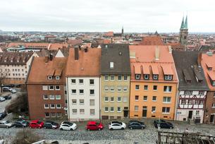 カイザーブルクより見るニュルンベルク旧市街の写真素材 [FYI01710163]
