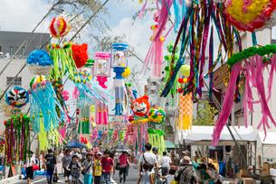 安城七夕祭りの写真素材 [FYI01710213]