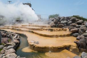 小浜温泉湯煙の写真素材 [FYI01710365]
