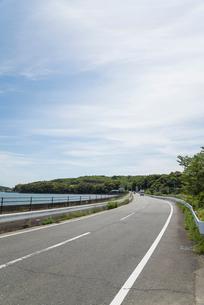 緑と湾岸沿いの道路の写真素材 [FYI01710390]